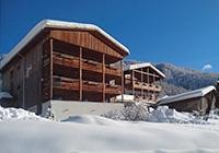 Hotel Edelweiß im Winter in Schlinig
