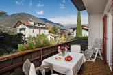 Balkon mit Blick auf das Vigiljoch - Ferienwohnung Pfattner in Lana