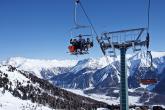 Sessellift im Skigebiet Haideralm