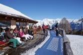 Skihütte im Skigebiet Haideralm