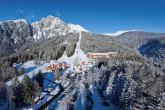 In Falzeben startet die Gondelumlaufbahn ins Skigebiet Meran 2000