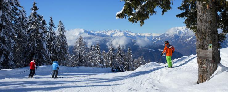 Skilaufen im Skigebiet Meran 2000